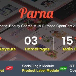 دانلود قالب فروشگاهی اپن کارت Parna