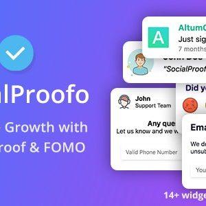 دانلود اسکریپت SocialProofo نسخه 7.1.0